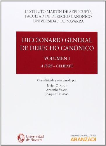 DICCIONARIO GENERAL DE DERECHO CANONICO ( 7 VOLUMENES) - 9788490141748